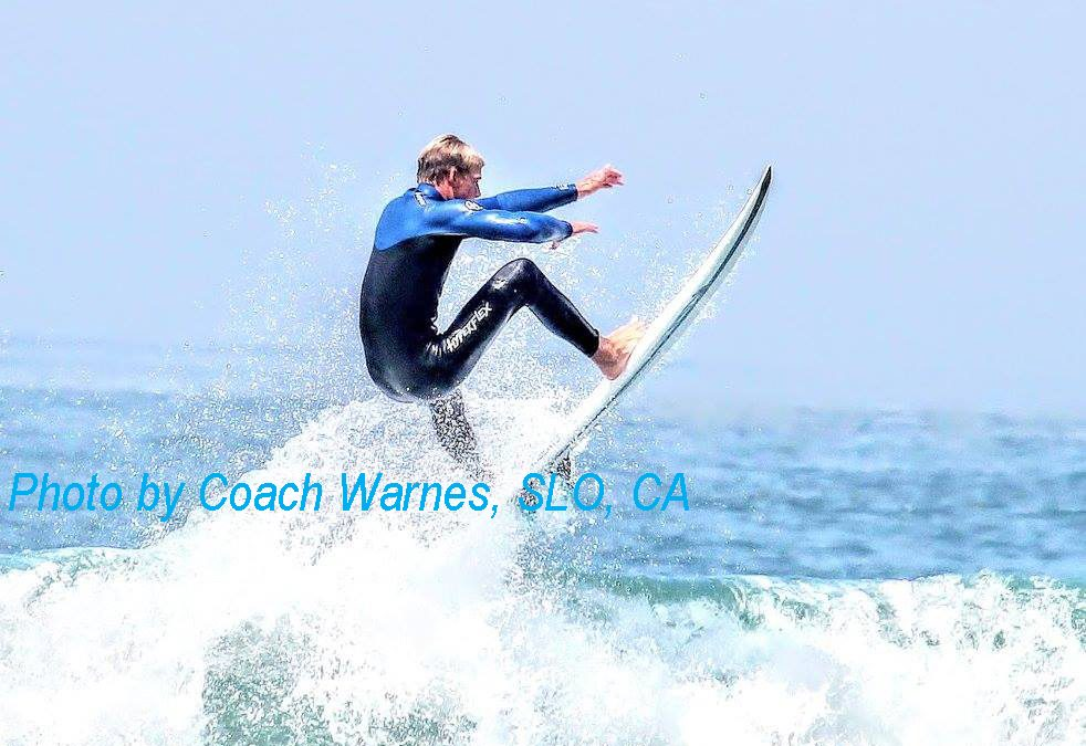 Surfing forecast high waves at Pismo Beach this coming week, May 21-23, 2018